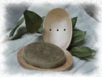 Oval Wooden Soap dish - Product Image
