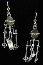 Skier Earrings - Product Image