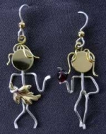 Adam & Eve Earrings - Product Image