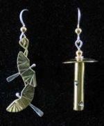 Birds and Feeder Earrings - Product Image