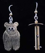 Bear & Feeder Earrings - Product Image