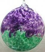Van Glow Purple and Green Suncatcher - Product Image