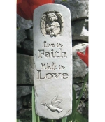 Faith and Love Indoor-Outdoor Plaque - Product Image