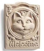Welcome Cat Indoor-Outdoor Plaque - Product Image