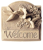 Hummingbird Welcome Indoor-Outdoor Plaque - Product Image