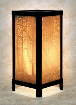Woodland Sunbeams Lithophane Lamp - Product Image