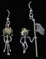 Golfer Earrings - Product Image