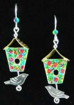 Bird House Earrings - Product Image