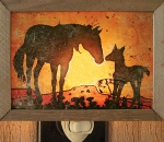 Mare and Foal Night Light - Product Image