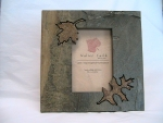 Natural Slate Photo Frame - Leaves - Product Image