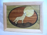 Marquetry Top Box (8 X 6) - 'Howling at the Moon' - Product Image