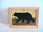 Marquetry Top Box (5 X 4) - 'The Black Bear' - Product Image