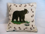 Black Bear Balsam Filled Embroidered Pillow - Product Image