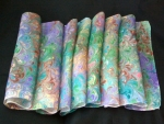 Hand Marbled Silk Scarf with Clip - Key West - Product Image