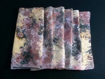 Hand Marbled Silk Scarf with Clip - Neutral - Product Image