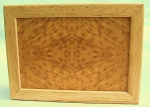 Marquetry Top Box (5 X 4) - Quarter Panel Bird's Eye Cherry - Product Image
