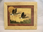 Marquetry Top Chest (10 X 12) - 'Northwood Geese' - Product Image