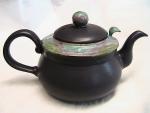 Bennington Handmade Stoneware Teapot - Blackberry With Equinox Glaze - Product Image