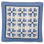 Blue Quilt Mug Mats - Product Image