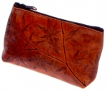 Leaf Leather Cosmetic Bag - Style 901 - Product Image