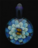 Butterfly Glass Pendant - Sky Blue - Product Image