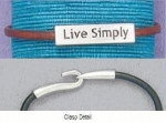 Live Simply Leather Bracelet - Product Image