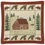 Log Cabin Mug Mats - Product Image
