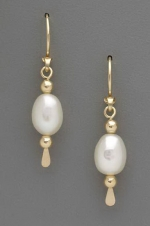 Freshwater Pearl Dangle Earrings - Product Image