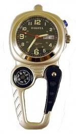 Dakota Mini Clip Compass (Silver) - Product Image