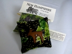 "'New Hampshire in Your Pocket"" Balsam Filled Pillow Sachet - Product Image"