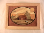 Marquetry Top Box (8 X 6) - 'The Farm' - Product Image