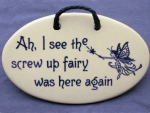 Screw Up Fairy Plaque - Product Image