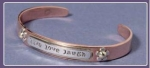 Cuff Bracelet - Live Love Laugh - Product Image