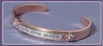 Cuff Bracelet - Live Love Laugh - Product Image
