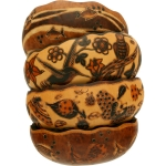 Nature - Medium Carved Gourd Bowl - Product Image