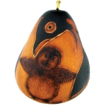 Penguin Mom & Chick - Petite Gourd Ornament - Product Image