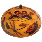 Butterflies & Bugs - Medium Carved Gourd Box - Product Image
