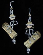Snow Boarder Earrings - Product Image