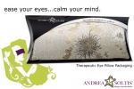 Satin Brocade & Velvet Lavender Eye Pillow - Product Image
