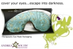 Satin Brocade & Velvet Lavender Eye Mask - Product Image
