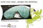 Satin Brocade & Velvet Lavender Eye Mask - Product Image