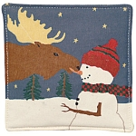 Moose and Snowman Mug Mats - Product Image