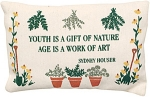 Sayings Pillow - Age is a Work of Art - Product Image