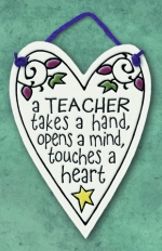Teacher Takes A Hand Mini Charmer Plaque - Product Image