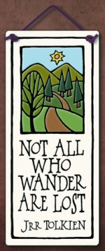 All Who Wander Small Tall Plaque - Product Image