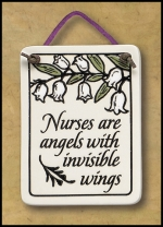 Nurses are Angels Mini Charmer Plaque - Product Image