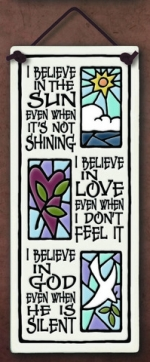 Believe in Sun Large Tall Plaque - Product Image