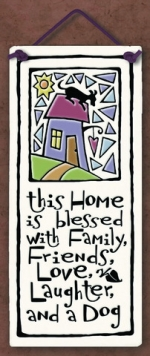 This Home is Blessed Small Tall Plaque - Product Image