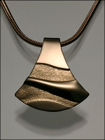 18K Gold Pendant (453T) On Gold Filled Chain - Product Image