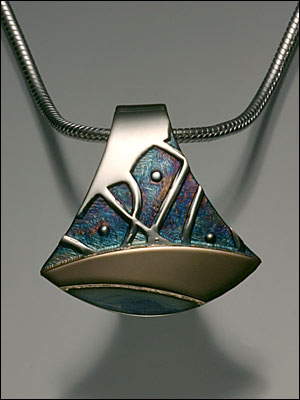 Smallcombe Sterling and 14K Gold Pendant